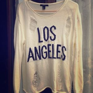 Los Angeles Distressed Sweater